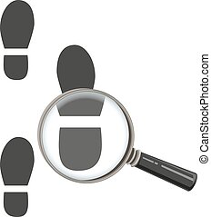 Magnifying glass increases steps