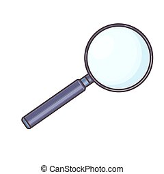 Magnifying Glass, Isolated On White Background