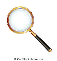Magnifying glass isolated over white background, vector...