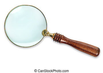 Magnifying Glass isolated with clipping path