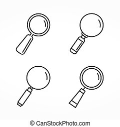 Magnifying Glass Line Icons