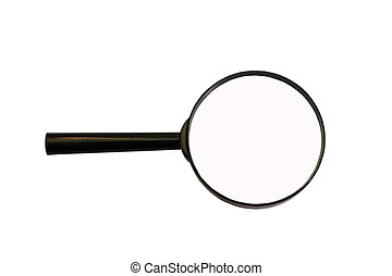 magnifying glass loupe to magnify enlarge isolated on white
