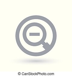 Magnifying glass minus icon - Zoom out symbol - Magnifying...