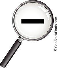 magnifying glass minus