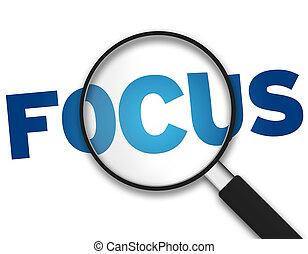 magnifying glass, -, ohnisko