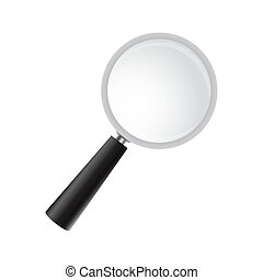 Magnifying glass on a white background. Vector realistic magnifi