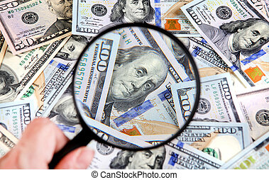 Magnifying Glass on the Money