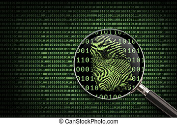 Magnifying Glass searching code for online activity.