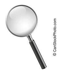 Magnifying glass - Realistic illustration design of a ...