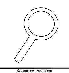 Magnifying glass search icon Illustration design
