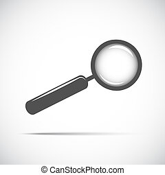 magnifying glass searching looking for information