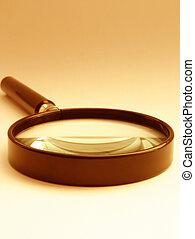 magnifying glass - sephia