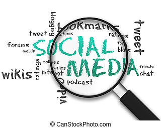 Magnifying Glass - Social Media