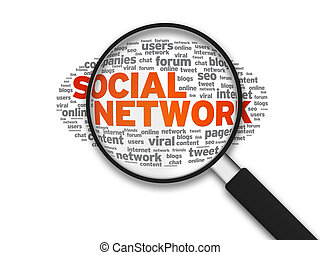 Magnifying Glass - Social Network