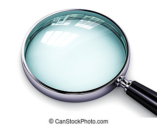 Magnifying glass - Creative abstract search, seek and find...