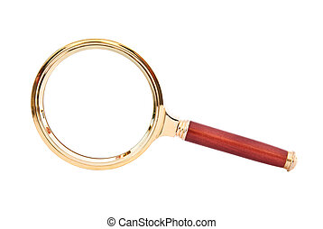 magnifying glass isolated on a white background