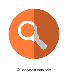 magnifying glass thumbnail icon image