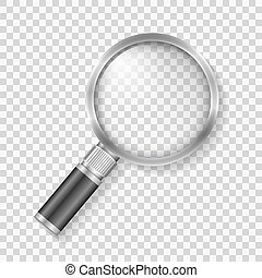 Magnifying Glass - Transparent magnifying glass, vector ...