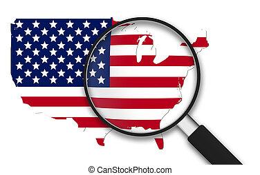 magnifying glass, -, usa