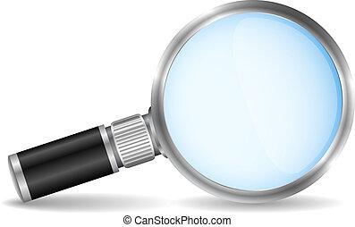 Magnifying glass, vector eps10 illustration
