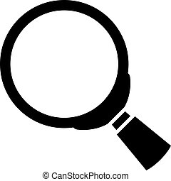Magnifying glass vector icon isolated on white background