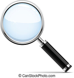 Magnifying glass - Vector illustration of magnifying glass ...