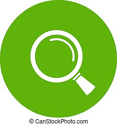 Magnifying glass web button