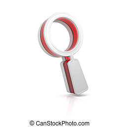 Magnifying glass web icon