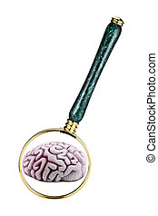 Concept image of phsycology or mental health studies -...
