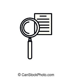magnifying glass with document