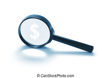 Magnifying Glass with Dollar Symbol