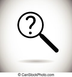 Magnifying Glass With Question Mark Search Icon