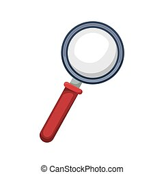 magnifying glass with red base
