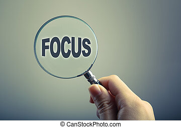 Magnifying Glass With Text Focus