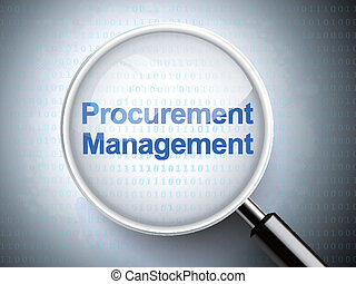 magnifying glass with words procurement management