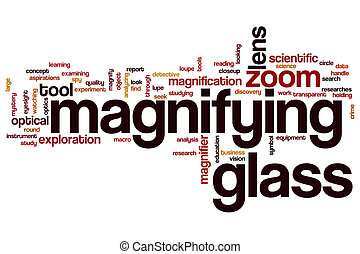 Magnifying glass word cloud