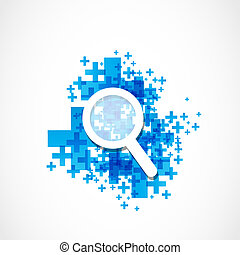 magnifying glass zoom web concept
