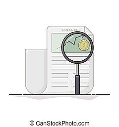 Magnifying Illustration. Flat Icon Vector Design