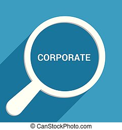 Magnifying Optical Glass With Words Corporate