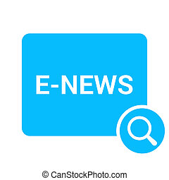 Magnifying Optical Glass With Words E-news