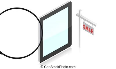 magnifying with tablet pc