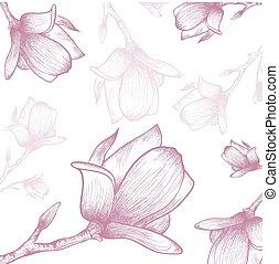 Magnolia Flower Background