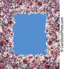 Magnolia Flower Border Frame
