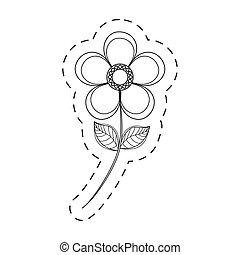 magnolia flower decoration cut line
