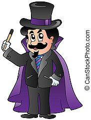 mago, caricatura