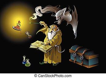 mago, demone, mandato di comparizione