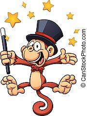 mago, scimmia