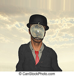 magritte, 남자