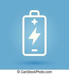 magt, batteri, energi, charge, symbol, ikon