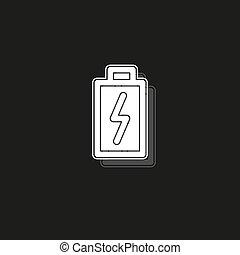 magt, illustration, batteri, symbol, -, tegn, el, vektor, charging, energi